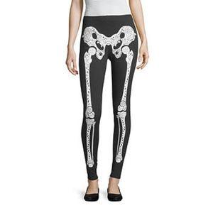 City Streets Halloween Leggings Skeleton Design